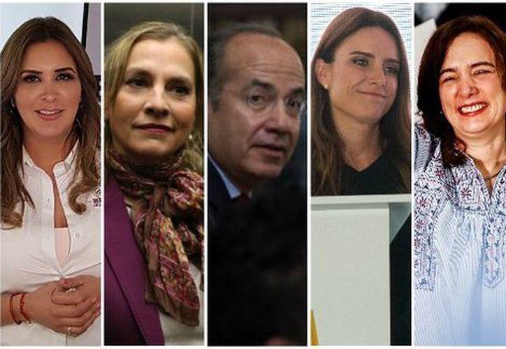 Ellas son las mujeres y el hombre que podrían convertirse en la próxima primera dama o primer caballero. (Foto: Milenio)