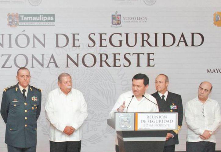 El encargado de la política interna estuvo en Tampico con el gabinete de seguridad. (Milenio)