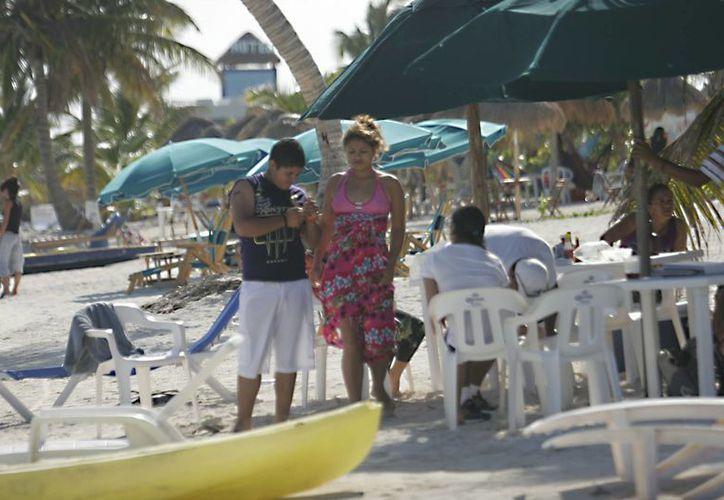 El 85% de los turistas de Majahual son nacionales  y el resto extranjeros. (Harold Alcocer/SIPSE)