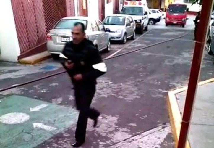 Captura de pantalla del nuevo video presentado ayer en los resultados del peritaje de la explosión en Cuajimalpa. (YouTube/Omar González)