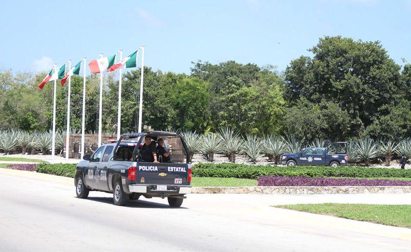 Las fuerzas sectoriales de la Policía del Estado, se suman a la de la Federal y el Ejército Mexicano. (Foto: Adrián Barreto)