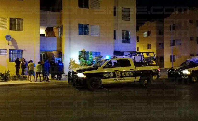 Al sitio arribaron los elementos de la Policía Municipal. (Enrique Castro/ SIPSE)