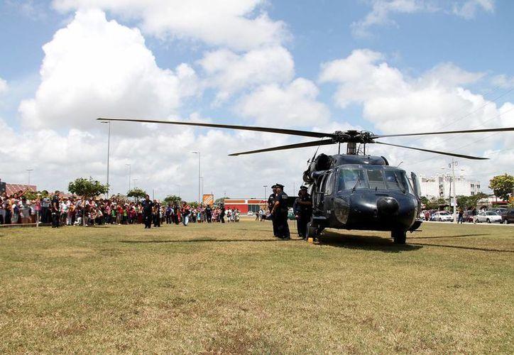 En total se efectuaron 11 procedimientos administrativos. En la imagen, un helicóptero de la Policía Federal (Imagen de referencia/Notimex)