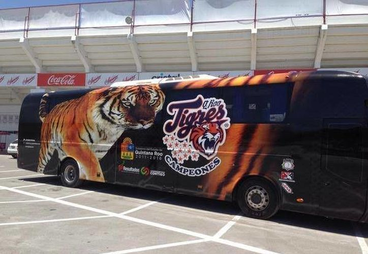 El diseño ganador será  grabado como la 'nueva piel' en el Tigre Bus del equipo quintanarroense. (Redacción/SIPSE)