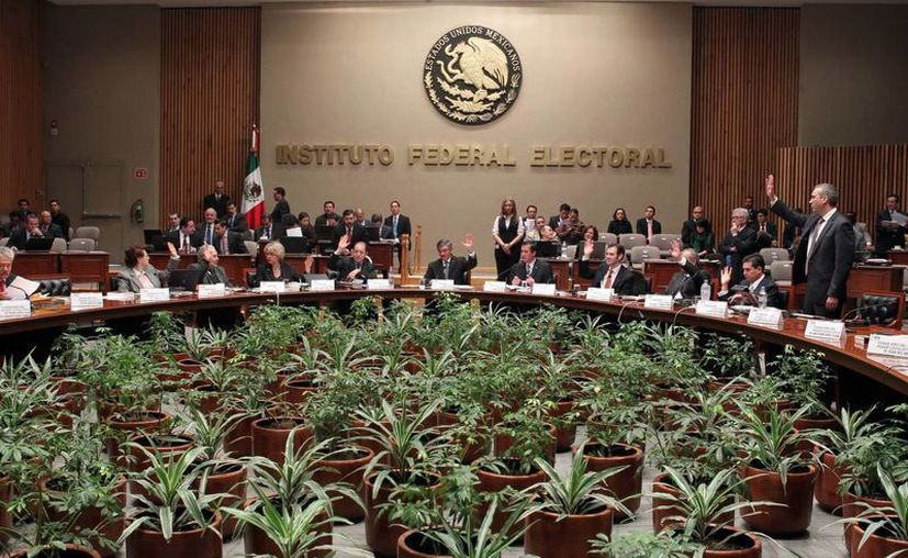 Sesión del IFE. (Archivo Notimex)