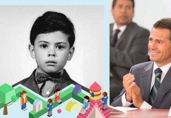 """""""Un niño que hoy crece sano, feliz y preparado, el día de mañana será un ciudadano responsable"""", publicó Enrique Peña Nieto en el Twitter. (@EPN)"""