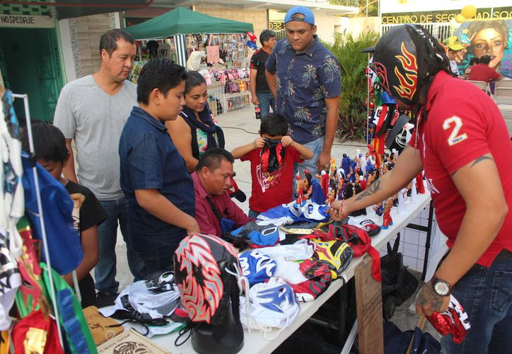 En el evento habrá diferentes stands en los que se expondrán artículos por parte de los luchadores. (Miguel Maldonado/SIPSE)
