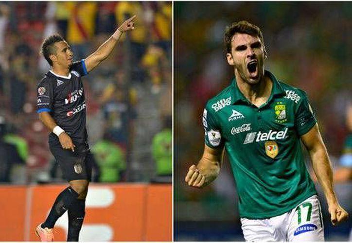 Camilo Sanvezzo (Gallos) y Mauro Boselli (León) son los campeones de goleo del Apertura 2014. (Mexsport)