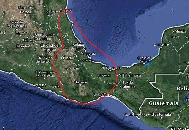 En el mapa se aprecia la zona en donde operaba la banda de secuestradores desmantelada en Puebla. (Google Maps)