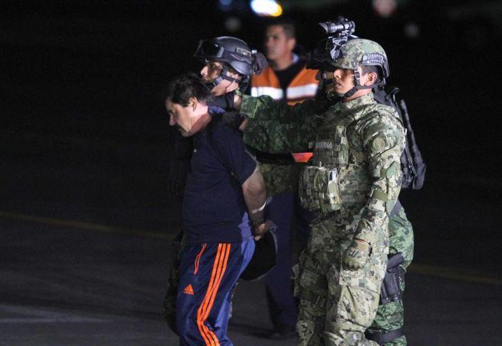 El Congreso pide que 'El Chapo' se quede un tiempo en México antes de ser extraditado a EU. (Archivo/Notimex)