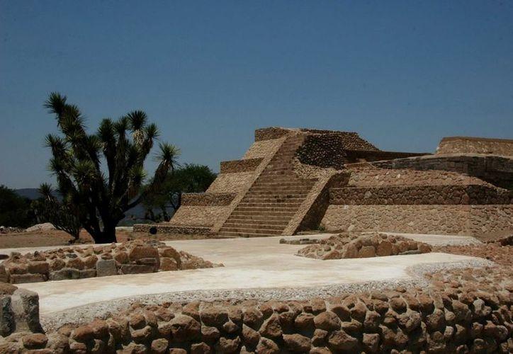 Luego de cinco años de restauración, a cargo del INAH, fue inaugurada la Zona Arqueológica de Pañhú. (Notimex)