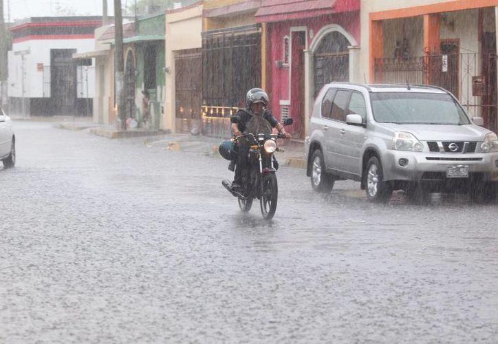 Se mantiene el pronóstico de lluvia de muy fuerte a intensa para las próximas horas en la Península de Yucatán, el oriente, el sur y el sureste de México. (Amílcar Rodríguez/Milenio Novedades)