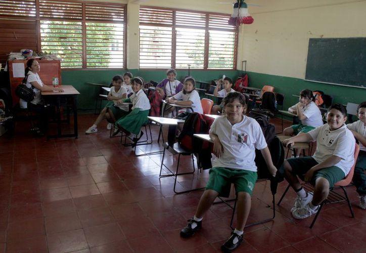 Durante el presente ciclo escolar ya son cinco primarias capitalinas afectadas; los estudiantes no tienen profesores desde el pasado 16 de enero. (Juan Palma/SIPSE)