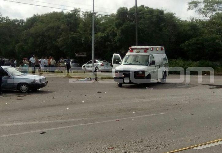 Saldo de tres muertos y dos lesionados dejó un brutal choque en la carretera Valladolid-Temozón. (Luigi Domínguez/SIPSE)