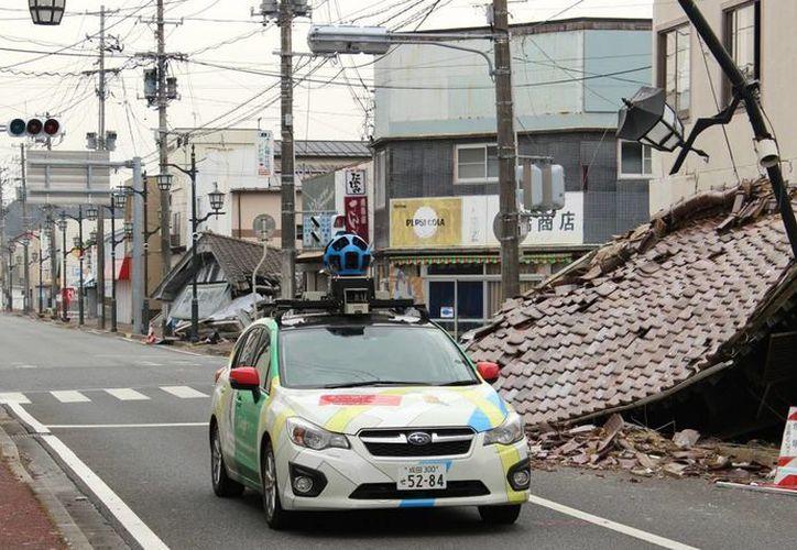 Una cámara de Google Street View recorre una zona afectada por el tsunami en 2011. (Agencias)