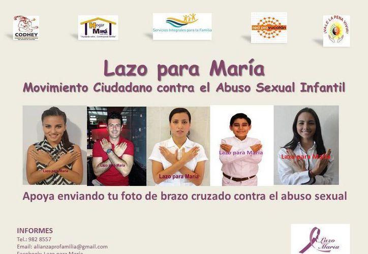 Por medio de Facebook, Lazo para María lanzó una campaña contra el abuso infantil.(facebook.com/pages/Lazo-para-Maria-página)