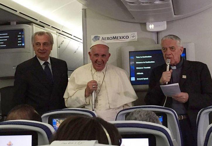 El Papa Francisco agradeció los gestos de cariño durante su visita a México. (Notimex)