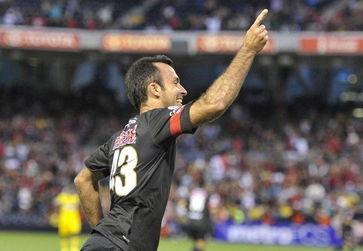 Diego Olsina entró de cambio y fue quien resolvió el partido para los Dorados. (Milenio Novedades)