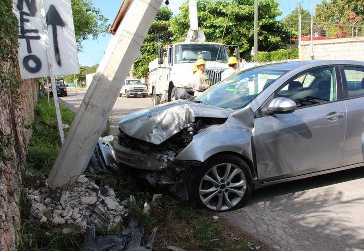 El accidente ocurrió cuando el guiador no reaccionó ante el fin de una calle. (SIPSE)