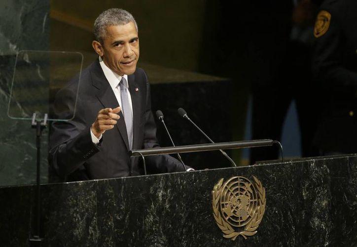 Durante su discurso ante la ONU, Obama sostuvo que los países fuertes deben reconocer cuando las políticas hacia otros países no funcionan. (Agencias)