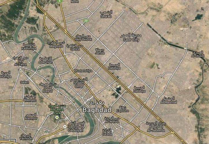 La masacre de la familia de un empleado del gobierno ocurrió mientras dormía con su familia en su vivienda en Sadiyah, al norte de Bagdad. (Google Maps)