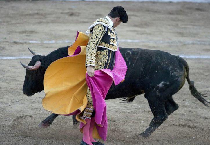El torero Daniel Luque participó en la segunda corrida de la temporada de la plaza de toros de Mérida. (Notimex)
