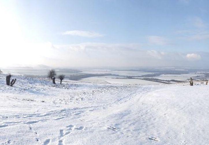 Paisaje nevado hoy en Bedfordshire al norte de Londres. (EFE)