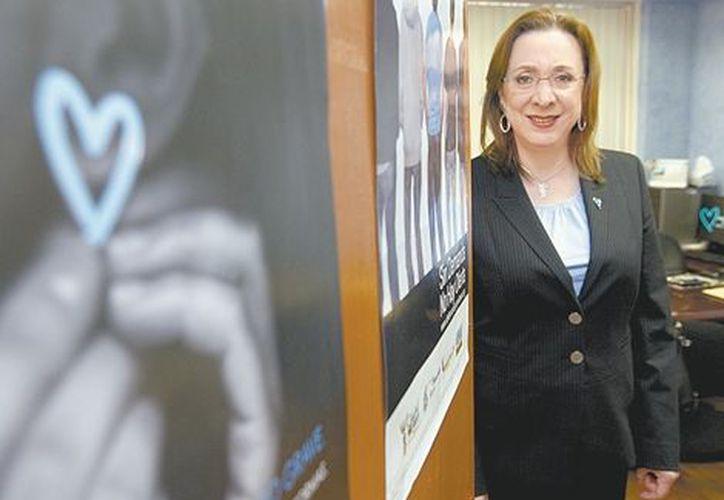 La presidenta de la asociación Todos Unidos contra la Trata de Personas. (Milenio)