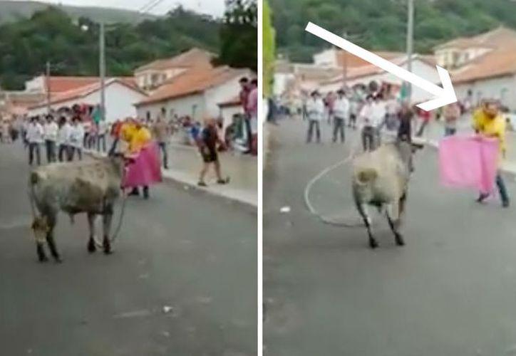 En el video se ve cómo se arriesgó la vida de la niña. (Internet)