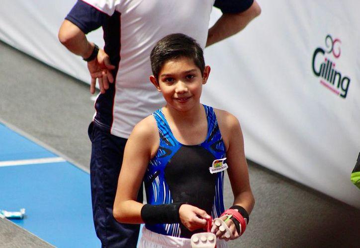 El joven capitalino de tan sólo 12 años de edad, obtuvo su boleto para formar parte de esta justa deportiva nacional. (Miguel Maldonado/SIPSE)