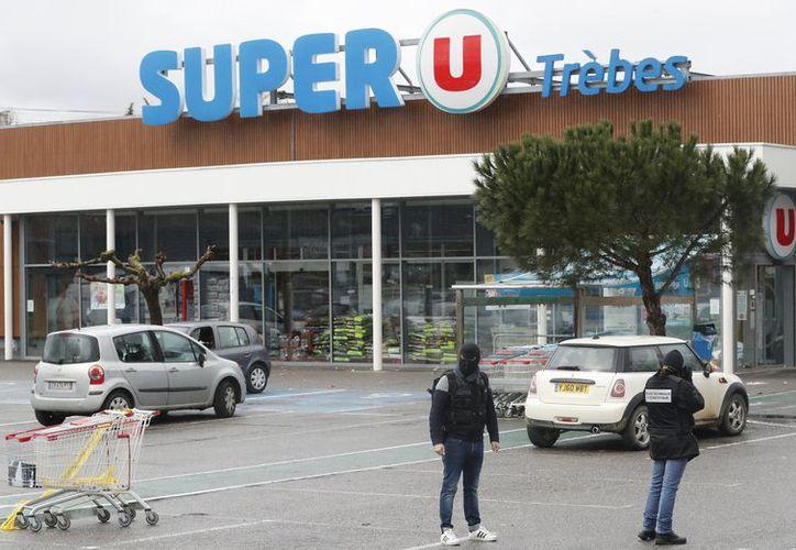 El carnicero trabajaba en el Super U de Trèbes. (Le Figaro)