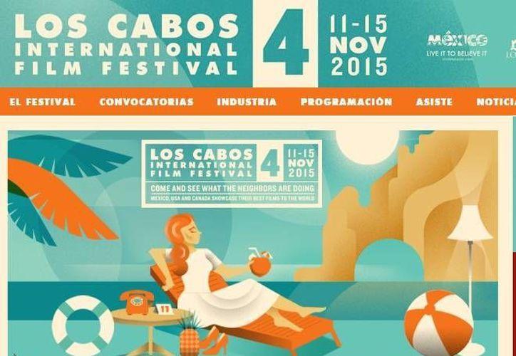 Cartel publicitario de la cuarta edición del Festival de cine de Los Cabos. (cabosfilmfestival.com)