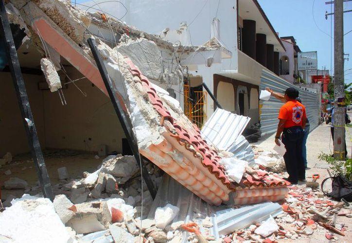 Donde se dio este colapso, la constructora está proyectando un desarrollo comercial. (Daniel Pacheco/ SIPSE)