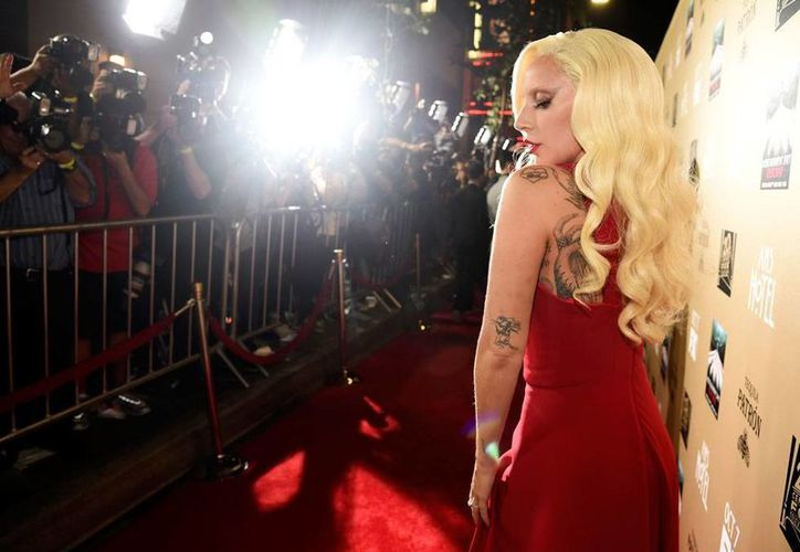 La cantante Lady Gaga se presentó al estreno estelar de la serie de FX 'American Horror Story'. (AP)