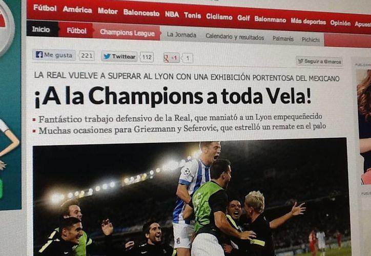 El diario Marca 'dedicó' su titular al cancunense.