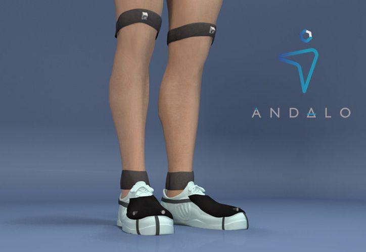 El dispositivo se coloca en la parte de arriba del zapato. (Anxech.com)