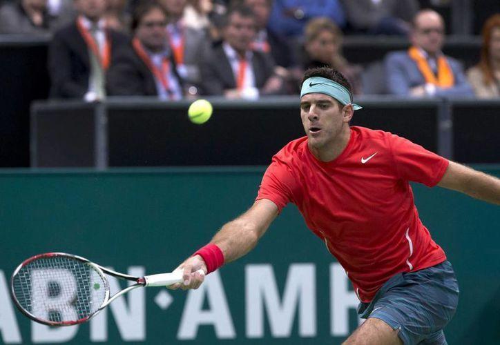 Juan Martín del Potro, campeón defensor y cabeza de serie del torneo ATP en Rotterdam, cayó 6-3, 6-4 ante Ernests Gulbis. (EFE)