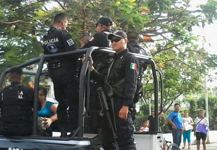 Ante los hechos se solicitó la presencia de los elementos de Seguridad pública. (Redacción/SIPSE)