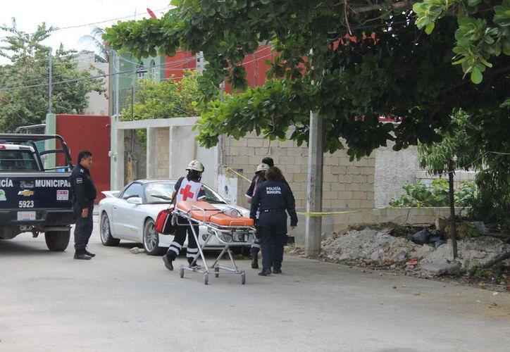 El ataque se registró sobre la calle 32 Poniente, en la Región 102. (Redacción/SIPSE)