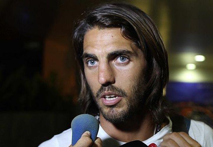 El jugador argentino Joaquín Larrivey se incorporó a los trabajos del Atlante y afirma que buscará llegar a la postemporada. (Raúl Caballero/SIPSE)