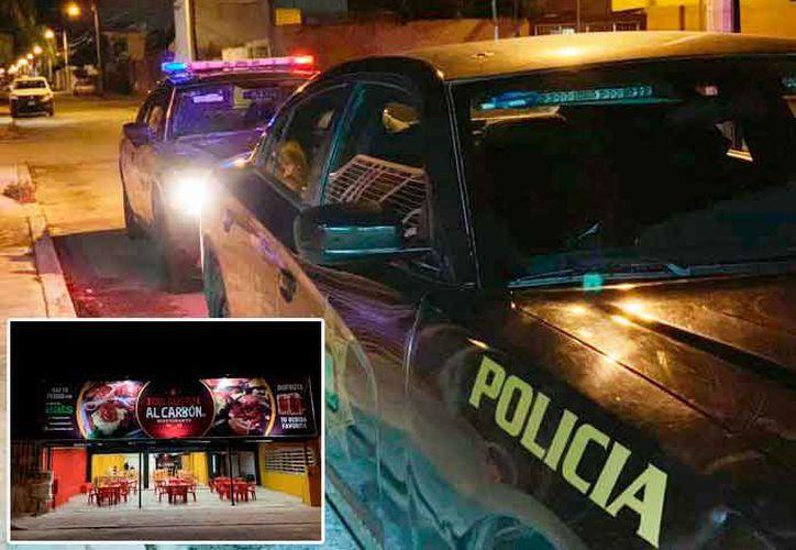La mujer fue auxiliada por un restaurante. (Foto:Novedades Yucatán)