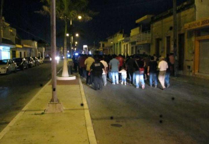 La Marcha de la Fe de varones se realiza cada Viernes Santo en Progreso. (Óscar Pérez/SIPSE)