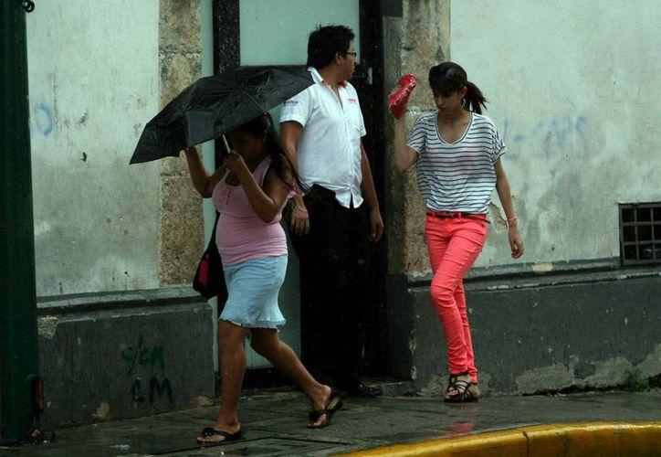 Las lluvias se presentaron desde temprano el miércoles. (Christian Ayala/SIPSE)