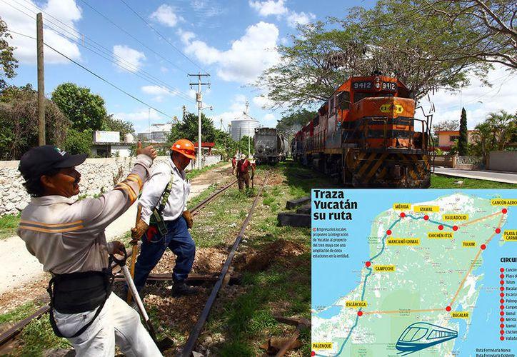 Valladolid, donde aún hay infraestructura ferroviaria, está contemplado para un proyecto de carga del tren maya. (Especial)