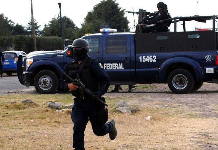 La Policía Federal detuvo a La Borrega, líder de la organización  'Los Rojos' en Tixtla, Guerrero. (Archivo/NTX)
