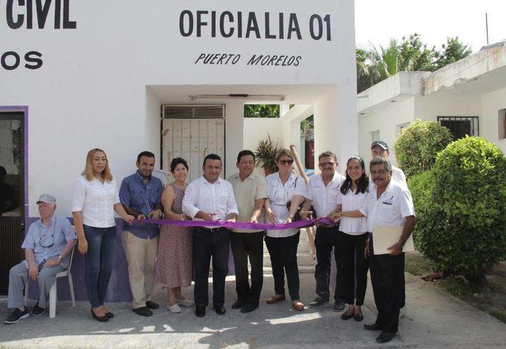 El martes se inauguró la oficialía 01 del Registro Civil de Puerto Morelos. (Cortesía)