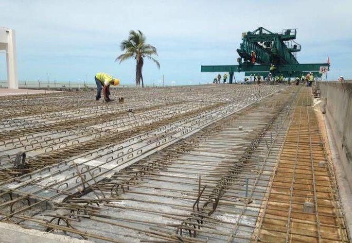 El Viaducto Alterno de Progreso ya comienza a tomar forma. (Archivo/ Milenio Novedades)