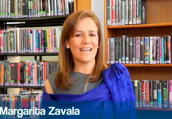La ex primera dama, Margarita Zavala, en captura de pantalla del video subido a YouTube. (Sipse.com)
