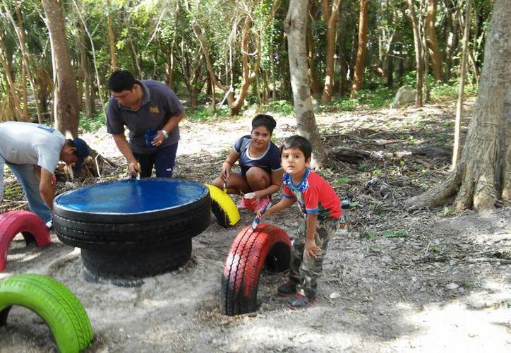 Parte de la recuperación del predio es contar con un acceso a la Laguna de Bacalar sin dar ni un peso. (Javier Ortiz/SIPSE)