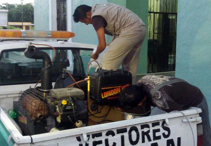 Desde principios de febrero arrancó de manera intensiva la fumigación y abatización en Yucatán para combatir al mosco transmisor del dengue. (SIPSE)